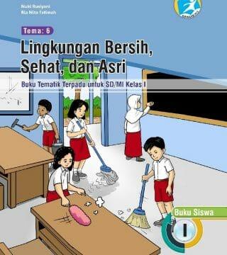 Buku Tematik Kelas 1 Sd Lingkungan Bersih Sehat Dan Asri Toko Buku Prestasi